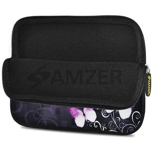AMZER 10.5 Inch Neoprene Zipper Sleeve Pouch Tablet Bag - Butterfly Maddison