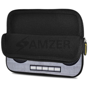 AMZER 10.5 Inch Neoprene Zipper Sleeve Pouch Tablet Bag - Grey Trendy Player