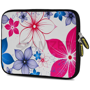 AMZER 10.5 Inch Neoprene Zipper Sleeve Pouch Tablet Bag - Five Petals Bloom