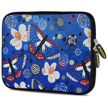 Load image into Gallery viewer, AMZER 10.5 Inch Neoprene Zipper Sleeve Pouch Tablet Bag - Blue Bloom Dragonfly