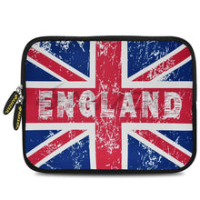 Load image into Gallery viewer, AMZER 10.5 Inch Neoprene Zipper Sleeve Pouch Tablet Bag - England Flag Cross
