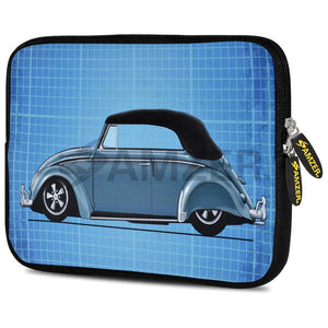 AMZER 7.75 Inch Neoprene Zipper Sleeve Pouch Tablet Bag - Classic Beetle Grid