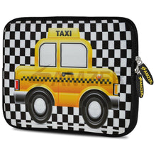 Load image into Gallery viewer, AMZER 10.5 Inch Neoprene Zipper Sleeve Pouch Tablet Bag - Yellow Taxi Checks