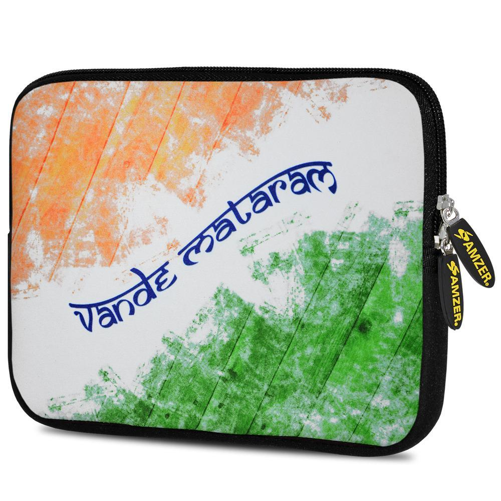 AMZER 10.5 Inch Neoprene Zipper Sleeve Pouch Tablet Bag - Vande Mataram