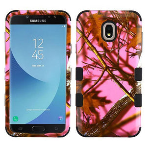 AMZER TUFFEN Hybrid Phone Protector Cover - Pink Oak-Hunting Camouflage Collection/Black for Samsung Galaxy J7 2018