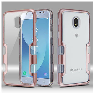 AMZER® TUFFEN Panoview Hybrid Protector Cover - Rose Gold/Clear for Samsung Galaxy J3 2018