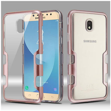 AMZER® TUFFEN Panoview Hybrid Protector Cover - Rose Gold/Clear for Samsung Galaxy J7 2018