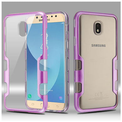 AMZER® TUFFEN Panoview Hybrid Protector Cover - Purple/Clear for Samsung Galaxy J7 2018