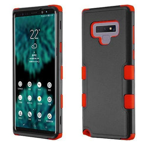 AMZER® TUFFEN Hybrid Phone Protector Cover - Black/Red for Samsung Galaxy Note9