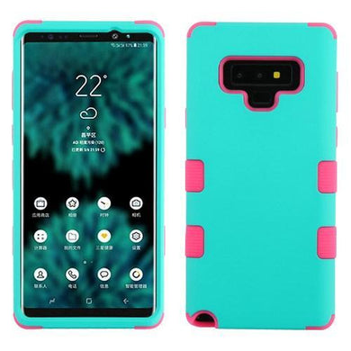 AMZER® TUFFEN Hybrid Protector Cover - Teal Green/Pink for Samsung Galaxy Note9