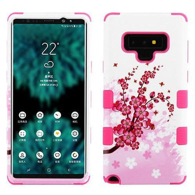 AMZER® TUFFEN Hybrid Protector Cover - Spring Flowers/Electric Pink for Samsung Galaxy Note9