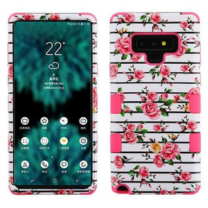 AMZER® TUFFEN Hybrid Protector Cover - Fresh Roses/Electric Pink for Samsung Galaxy Note9