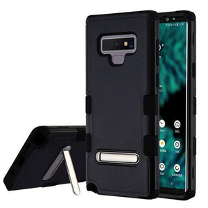 AMZER® TUFFEN Hybrid Protector Cover With Magnetic Metal Stand - Black/Black for Samsung Galaxy Note9