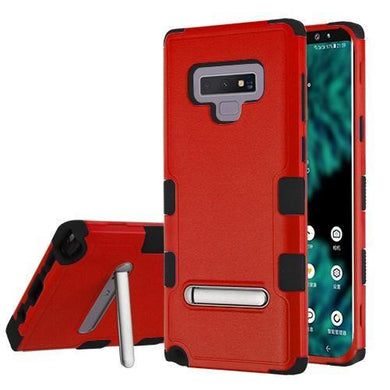 AMZER® TUFFEN Hybrid Protector Cover With Magnetic Metal Stand - Red/Black for Samsung Galaxy Note9