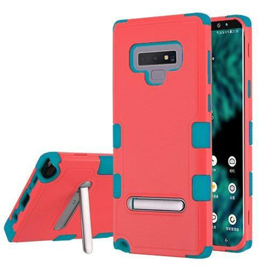 AMZER® TUFFEN Hybrid Protector Cover With Magnetic Metal Stand - Baby Red/Teal for Samsung Galaxy Note9