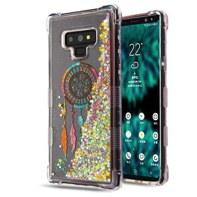 AMZER® TUFFEN Quicksand Glitter Hybrid Protector Cover - Dreamcatcher/Gold Stars for Samsung Galaxy Note9