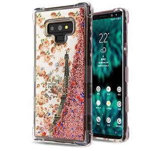 AMZER® TUFFEN Quicksand Glitter Hybrid Protector Cover - Paris/Rose Gold Sparkles for Samsung Galaxy Note9