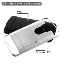 Load image into Gallery viewer, AMZER Brushed Hybrid Protector Cover - Silver/Black for Motorola Moto E5 Play