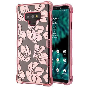 AMZER® TUFFEN CandyTPU Skin Cover - Rose Gold & Magnolia Garden for Samsung Galaxy Note9