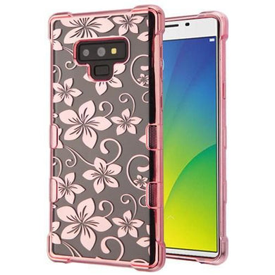 AMZER® TUFFEN CandyTPU Skin Cover - Rose Gold & Hibiscus Flower for Samsung Galaxy Note9