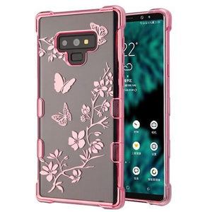 AMZER® TUFFEN CandyTPU Skin Cover - Rose Gold & Butterflies for Samsung Galaxy Note9