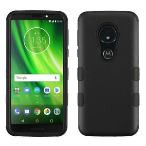 AMZER® TUFFEN Hybrid Phone Protector Cover - Black/Black for Motorola Moto G6 Play