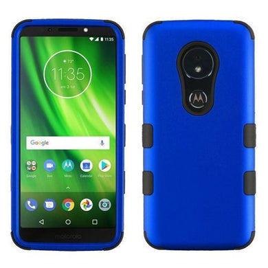 AMZER® TUFFEN Hybrid Phone Protector Cover - Blue/Black for Motorola Moto G6 Play