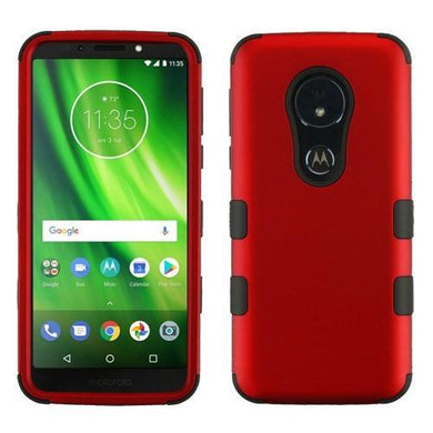 AMZER® TUFFEN Hybrid Phone Protector Cover - Red/Black for Motorola Moto G6 Play