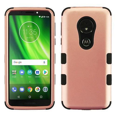 AMZER® TUFFEN Hybrid Phone Protector Cover - Rose Gold/Black for Motorola Moto G6 Play