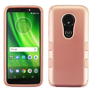 AMZER® TUFFEN Hybrid Phone Protector Cover - Rose Gold/Rose Gold for Motorola Moto G6 Play
