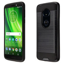 Load image into Gallery viewer, AMZER Brushed Hybrid Protector Cover - Black/Black for Motorola Moto G6 Play