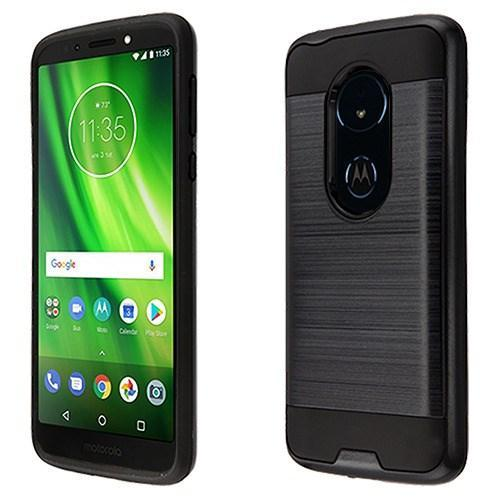 AMZER Brushed Hybrid Protector Cover - Black/Black for Motorola Moto G6 Play