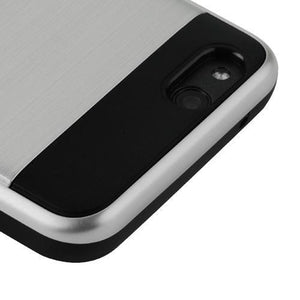 AMZER Brushed Hybrid Protector Cover - Silver/Black for ZTE Tempo X N9137