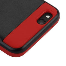 Load image into Gallery viewer, AMZER Brushed Hybrid Protector Cover - Black/Red for ZTE Tempo X N9137