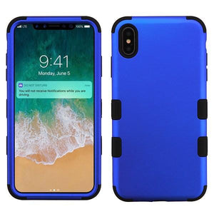 AMZER® TUFFEN Hybrid Phone Case Protector Cover - Blue/Black for iPhone Xs Max