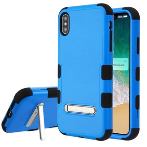 AMZER® TUFFEN Hybrid Protector Cover With Magnetic Metal Stand - Blue/Black for iPhone Xs Max