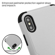 Load image into Gallery viewer, AMZER® TUFFEN Hybrid Protector Cover With Magnetic Metal Stand - Gray/Black for iPhone Xs Max