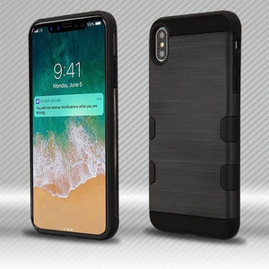 AMZER® TUFFEN Hybrid Protector Cover - Black/Black for iPhone Xs Max