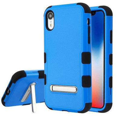 AMZER® TUFFEN Hybrid Protector Cover With Magnetic Metal Stand - Blue/Black for iPhone Xr