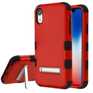 AMZER® TUFFEN Hybrid Protector Cover With Magnetic Metal Stand - Red/Black for iPhone Xr