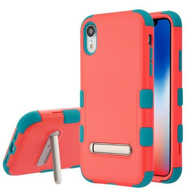 AMZER® TUFFEN Hybrid Protector Cover With Magnetic Metal Stand - Red/Teal for iPhone Xr