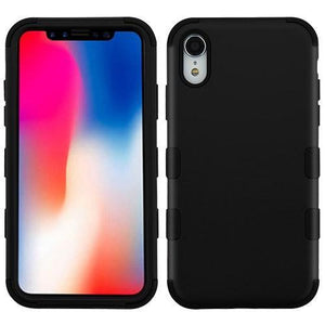 AMZER® TUFFEN Hybrid Phone Case Protector Cover - Black/Black for iPhone Xr