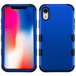 AMZER® TUFFEN Hybrid Phone Case Protector Cover - Blue/Black for iPhone Xr