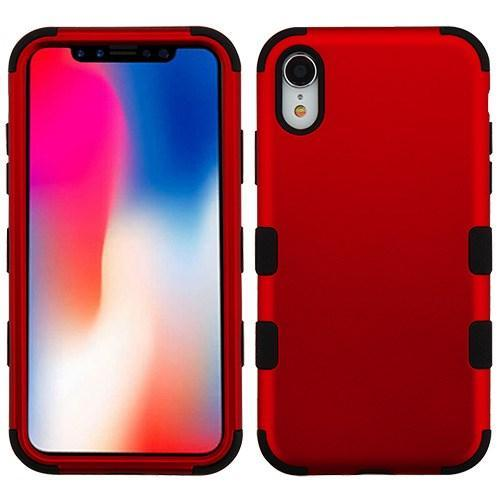 AMZER® TUFFEN Hybrid Phone Case Protector Cover - Red/Black for iPhone Xr