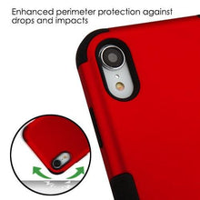 Load image into Gallery viewer, AMZER® TUFFEN Hybrid Phone Case Protector Cover - Red/Black for iPhone Xr