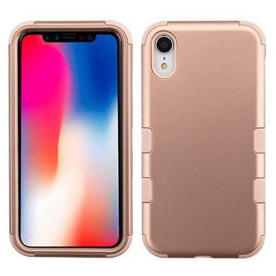 AMZER® TUFFEN Hybrid Phone Case Protector Cover - Rose Gold/Rose Gold for iPhone Xr