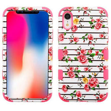 Load image into Gallery viewer, AMZER® TUFFEN Hybrid Phone Case Protector Cover - Pink Roses/Pink for iPhone Xr