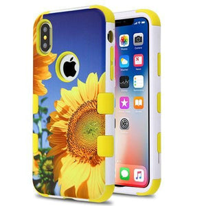 AMZER® TUFFEN Hybrid Phone Case Protector Cover - Sunflower /Yellow for iPhone X