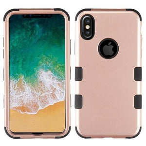 AMZER® TUFFEN Hybrid Phone Case Protector Cover - Rose Gold/Black for iPhone X