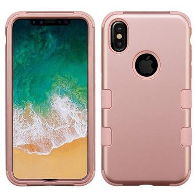 AMZER® TUFFEN Hybrid Phone Case Protector Cover - Rose Gold/Rose Gold for iPhone X